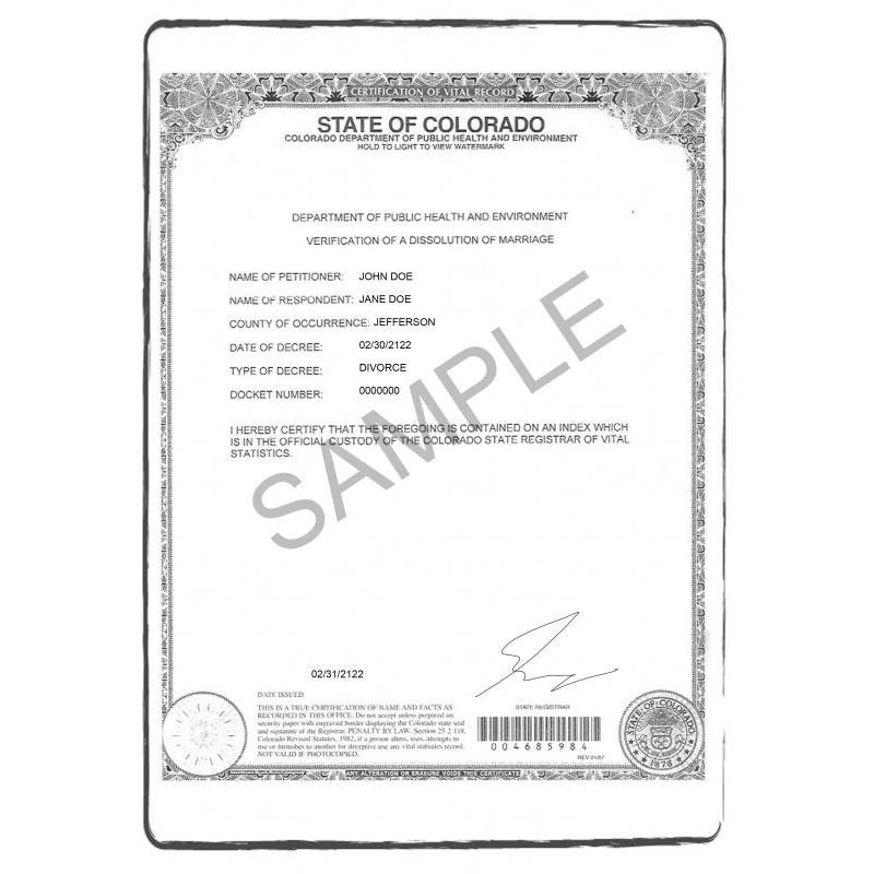 certificado de divorcio EN anglés US