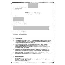 Contrato de trabajo DE